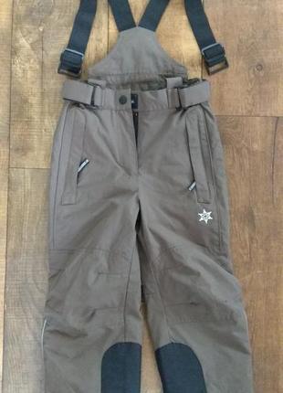 Зимний полукомбинезон штаны тёплые сноубордические горнолыжные 110-116см рост 4-5-6лет