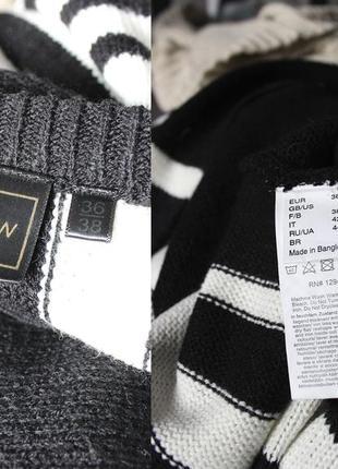 Черно - белый вязаный свитер пончо от rainbow9 фото