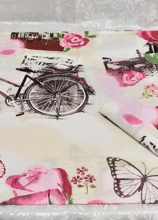 Наволочки - розы с велосипедом, все размеры, быстрая отправка
