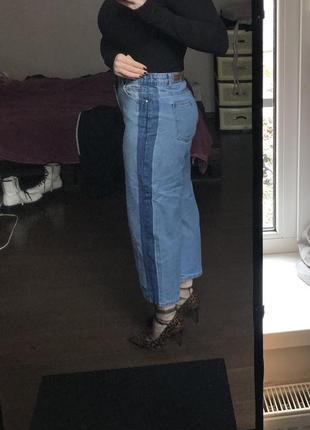 Джинсы с лампасами кюлоты брюки с лампасами широкие брюки