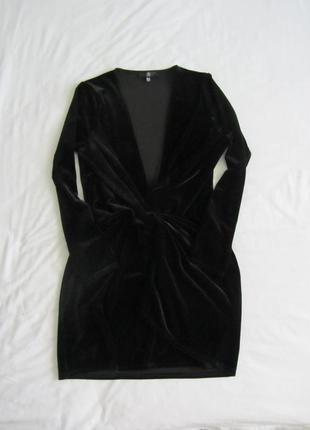 Бархатное платье missguided