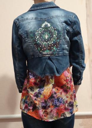Укорочена джинсова куртка-болеро