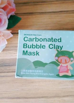 Кислородная маска для очищения кожи bioaqua skin care carbonated bubble clay mask