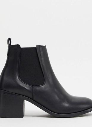 Кожаные ботинки челси на каблуке depp