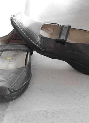 Балетки 36 размер, натуральная кожа, на полные ноги,  туфли, мокасины