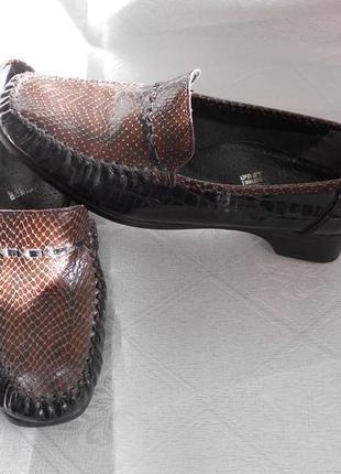 Лоферы 38,39 размер, бренд  rieker, мокасины, туфли, кожа