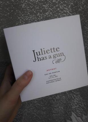 Духи juliette has a gun anyway оригинал новые 100 мл!