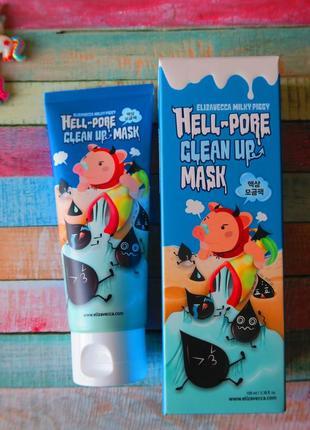 Маска очищающая поры, 100 мл, elizavecca milky piggy hell pore clean up mask