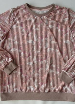 Домашний свитшот, реглан, кофта, велюр в рубчик, george 12-14