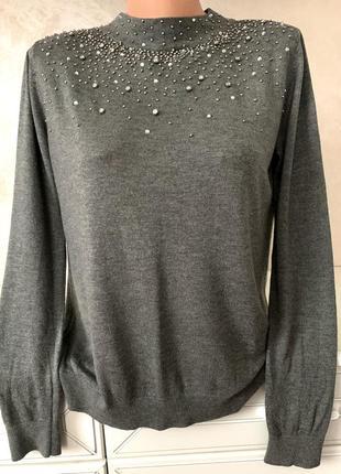 Супер блуза кофточка с камнями