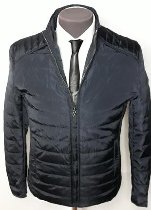 Куртка мужская классическая на весну синяя