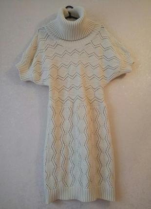 Теплое уютное платье с высоким воротом