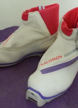 Лыжные ботинки salomon sr 611