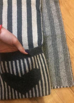 Очень тёплый шарф accessorize зимний. шерсть 100%