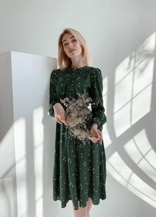 Весеннее легкое платье миди в цветочек