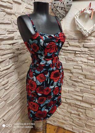 Очень классное летние платье  на брителях от h&m