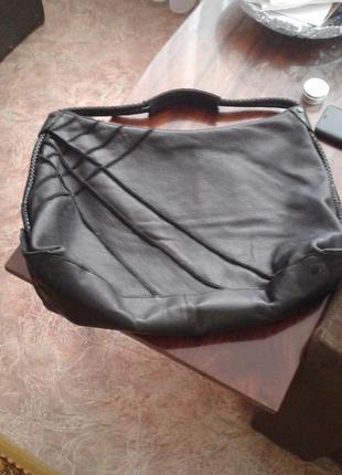 Натуральная кожаная сумка шопер nixon.