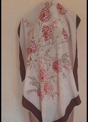 Красивый винтажный подписной платок gabrialli италия