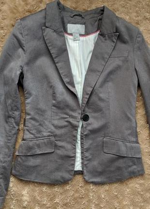 Классический строгий жакет пиджак на пуговице с длинными рукавами4 фото