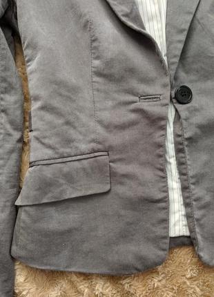 Классический строгий жакет пиджак на пуговице с длинными рукавами6 фото
