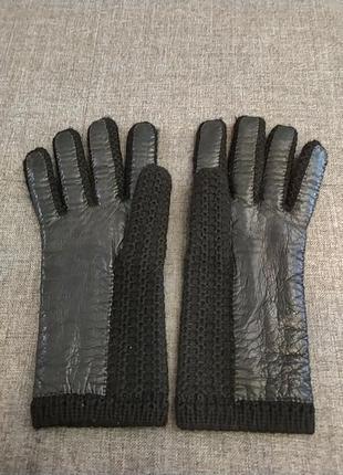 Перчатки кожа шерсть