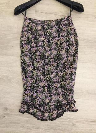 """Шелковая юбка с """"хвостом"""" karen millen"""