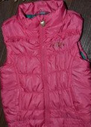 Теплая жилетка деми девочке р98-104 супер