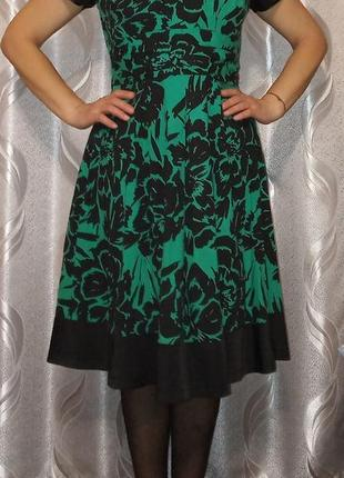 Зелёное платье с цветочным принтом 🌺 #розвантажуюсь
