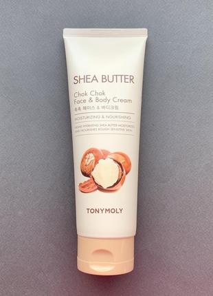 Крем для лица и тела питательный tony moly shea butter chok chok face & body cream