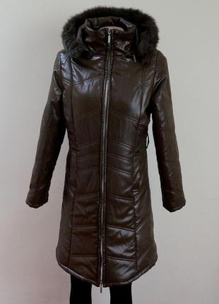 Пальто куртка с капюшоном с натуральным мехом (у меня большой выбор курток)