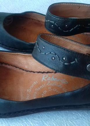 Туфли кожаные roberto santi