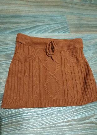 Вязаная мини юбка.