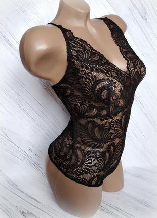 Сексуальное черное кружевное боди от plt size 10