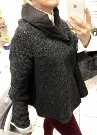 Stefanel , пальто жакет на шелковой подкладке