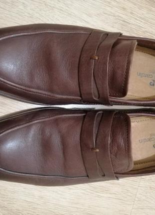 Мужские кожаные туфли pierre cardin 40 размер