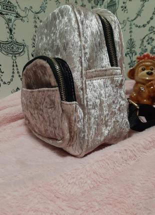Классный велюровый рюкзак