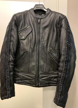 Байкерская, мотоциклетная, мото кожаная куртка