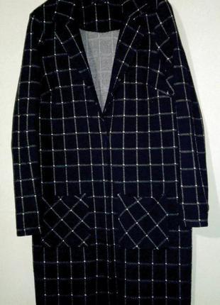 Стильный длинный трикотажный пиджак george