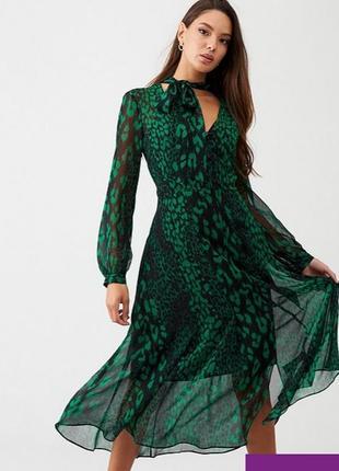 Шифоновое платье с принтом wallis,  размер 14