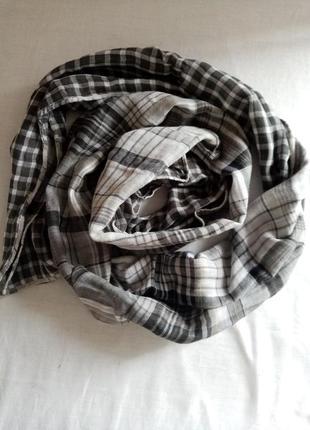 Коттоновый тонкий шарф