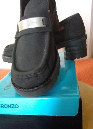 Актуальные  туфли из нубука известной английской фирмы rock valley
