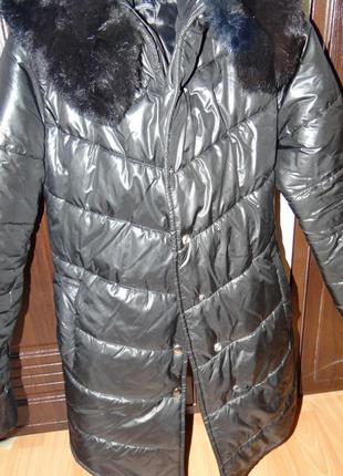 Зимняя куртка с мехом кролика