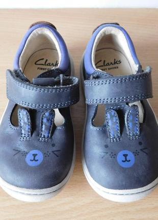 Стильные туфли мокасины clarks 20 р. стелька 13 см. кожа