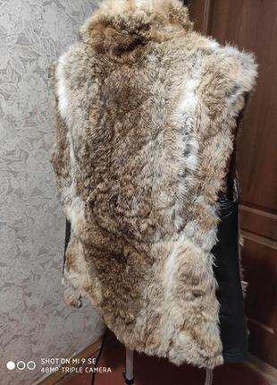 Меховая жилетка кролик натуральная