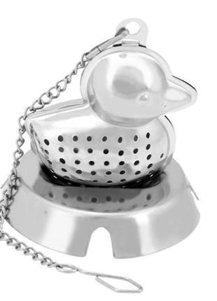 Заварник - утка  для чая  прикольный фильтр  для чая ситечко