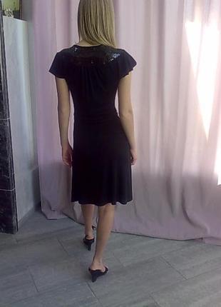 Славное платье черное на запах р 44-46 made in usa