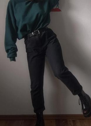 Mon jeans, джинсы момс, винтажний стиль, высокая посадка