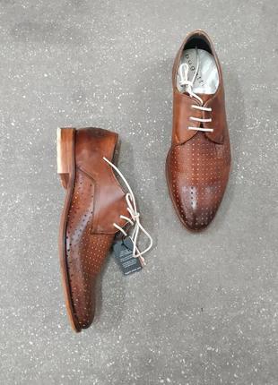 Bugatti, броги, классические кожаные туфли, оксфорды с перфорацией