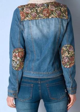 Джинсовая куртка с вышивкой жаккард жжарадовая куртка джинсовка