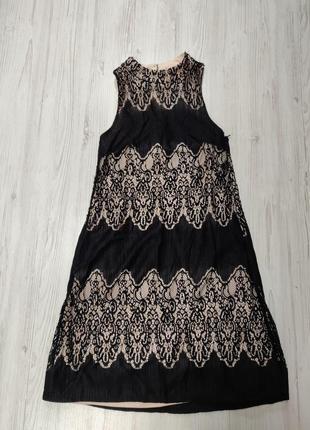 Ликвидация товара 🔥 кружевное платье под шею с открытой спинкой